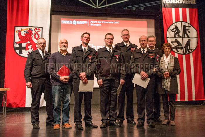 Einige Kameraden wurden für ihre Mitgliedschaft und Verdienste geehrt.
